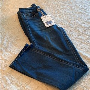 Indigo Rein Highrise ankle denim. Size 1 W24